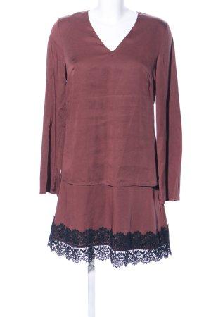 Four flavor A-Linien Kleid rot-schwarz Casual-Look