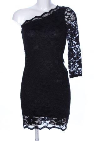 Four flavor One-Shoulder-Kleid schwarz Elegant