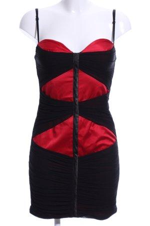 Four flavor Trägerkleid rot-schwarz Elegant