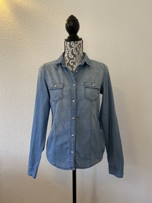 FOX Damen Langarm Hemd Denim Blau Gr. S TOP !!