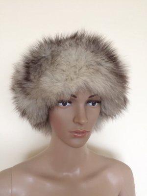 Fur Hat dark grey-silver-colored pelt