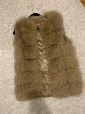 Fur Jacket beige-camel