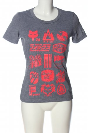 Fox Camicia fantasia grigio chiaro-rosso puntinato stile atletico
