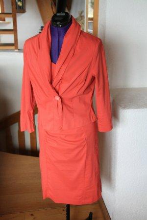 FOX'S Sheath Dress salmon-bright red cotton