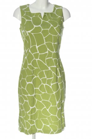 FOX'S Pencil Dress green-white allover print business style