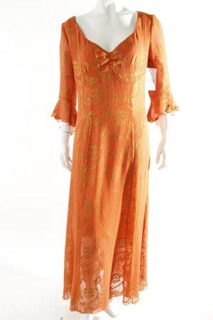 FOX'S Maxikleid orange-dunkelgelb