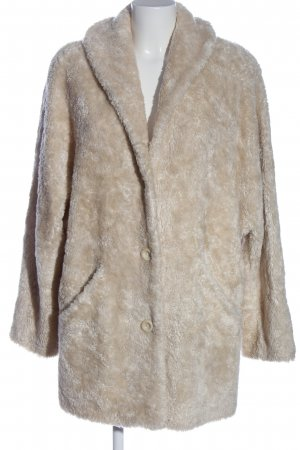 FOX'S Manteau de fourrure gris clair-crème style décontracté
