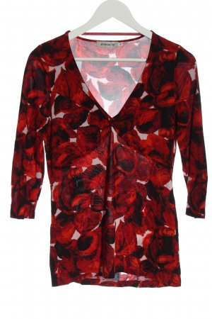 FOX'S Slip-over Blouse red-black allover print casual look