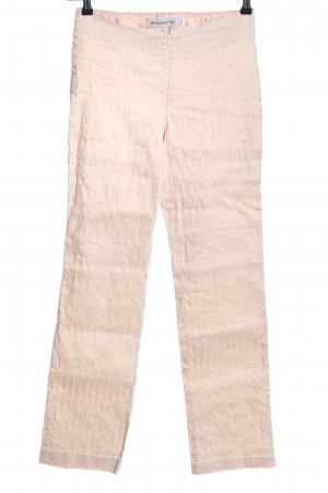FOX'S Stoffhose creme Streifenmuster Casual-Look