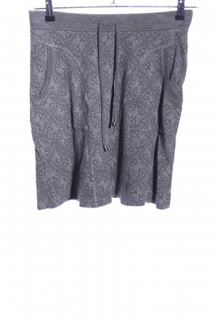 FOX'S Knitted Skirt light grey abstract pattern casual look