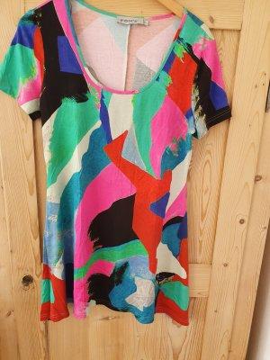 FOX'S Sukienka tunika różowy-stalowy niebieski