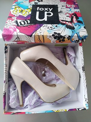 High Heels white-silver-colored