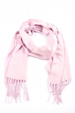 Fraas Bufanda de flecos rosa look casual