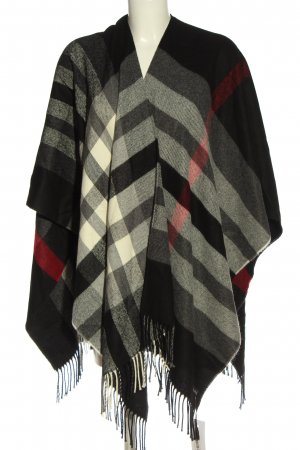 Fraas Poncho Karomuster Casual-Look