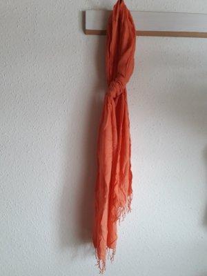Fraas. leichter Sommerschal. orange.