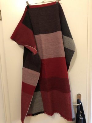Fraas Schal Übergröße Wolle rot grau
