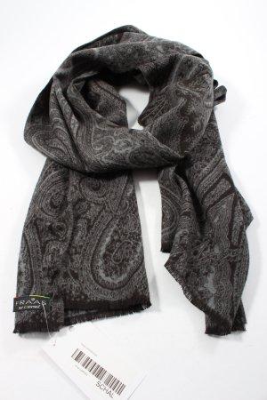 Fraas Bufanda de punto marrón-gris claro estampado con diseño abstracto
