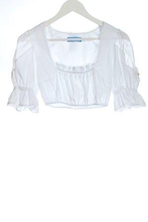Frachtenmanufaktur Blusa folclórica blanco estilo clásico