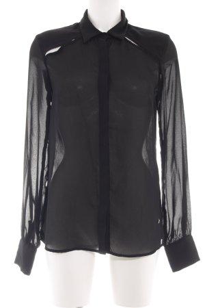 Fracomina Langarm-Bluse schwarz extravaganter Stil