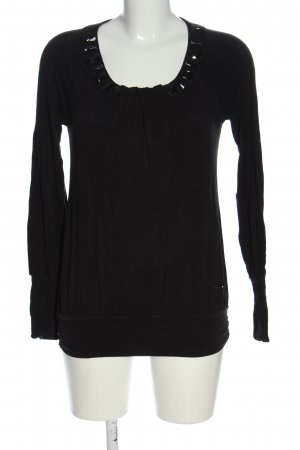 Fracomina Langarm-Bluse schwarz Casual-Look