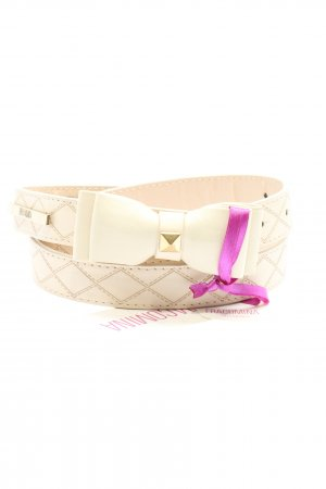 Fracomina Faux Leather Belt cream casual look