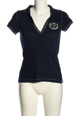 Fracomina Polo-Shirt blau Casual-Look