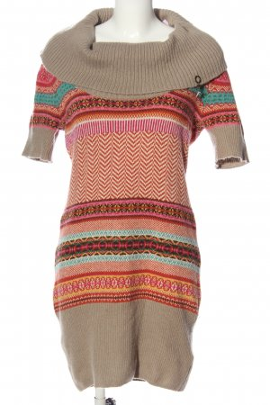 Fracomina Sweater Dress abstract pattern casual look