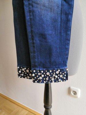 Fracomina Skinny Jeans mit Perlenbesatz