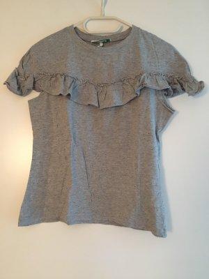 ❤️FRÄULEIN STACHELBEERE❤️ T-Shirt Gr. M Rüschen grau wNEU