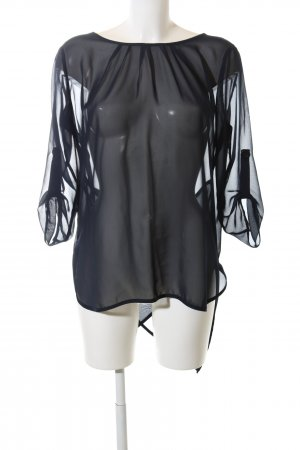 Fräulein Stachelbeere Transparenz-Bluse schwarz Elegant