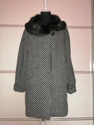 Fragile  Italy Oversized jas zwart-wit Polyester