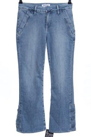 Frame Denim Boot Cut Jeans blau Street-Fashion-Look