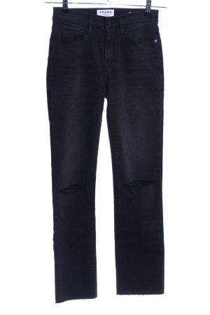 Frame Denim High Waist Jeans schwarz Casual-Look