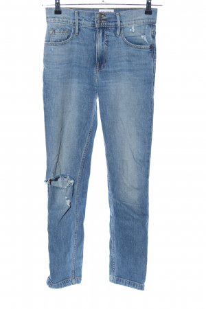 Frame Denim Hoge taille jeans blauw casual uitstraling