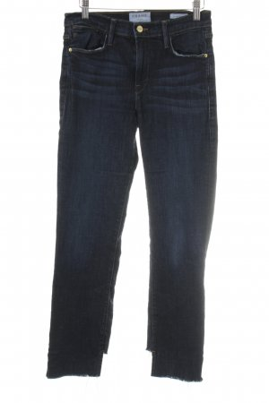 Frame Denim Hoge taille jeans donkerblauw casual uitstraling