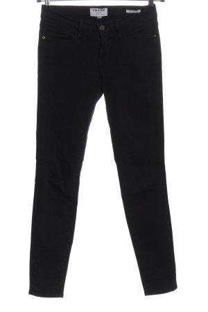 Frame Denim Skinny Jeans schwarz Casual-Look