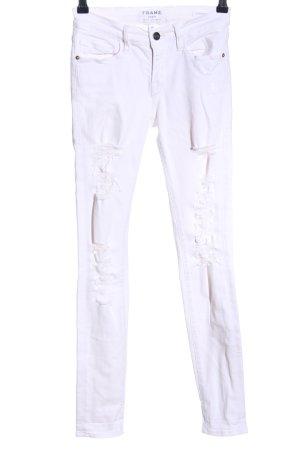 FRAME Skinny Jeans weiß Casual-Look