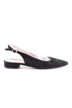 Franca Riemchen-Sandaletten schwarz Business-Look