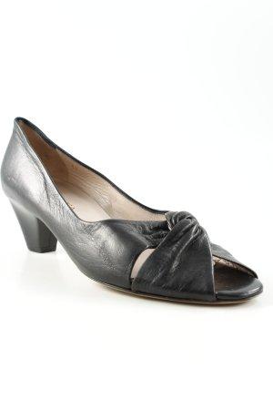 Franca Schlüpfschuhe schwarz schlichter Stil