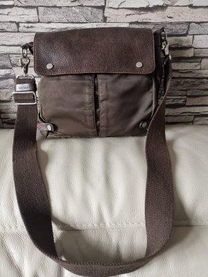 Francesco Biasia Leder Tasche Umhängetasche braun