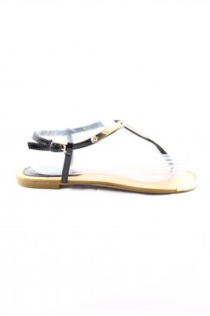 Francesco Milano Dianette Sandals black-gold-colored casual look
