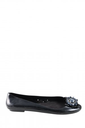 Francesco Milano Peep Toe Ballerinas black casual look