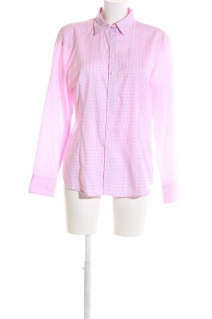 Franco Callegari Hemd-Bluse pink Karomuster Business-Look