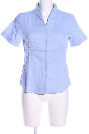 Franco Callegari Hemd-Bluse blau Streifenmuster Business-Look