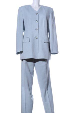 Franco Callegari Kostüm blau meliert Business-Look