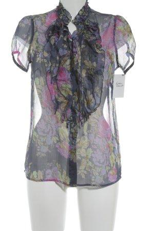 Franco Callegari Kurzarm-Bluse Blumenmuster Street-Fashion-Look