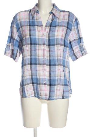 Franco Callegari Shirt met korte mouwen geruite print casual uitstraling