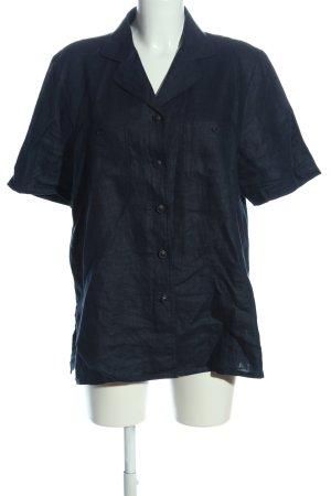 Franco Callegari Chemise à manches courtes bleu style décontracté