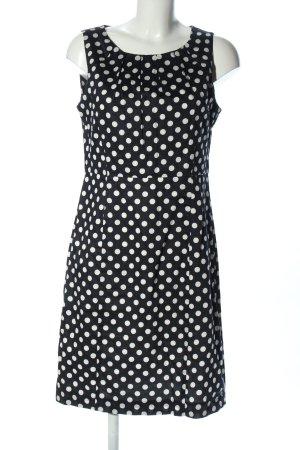 Franco Callegari Kurzarmkleid schwarz-weiß Punktemuster Casual-Look