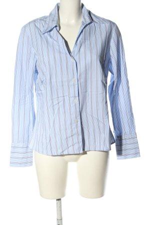 Franco Callegari Langarmhemd blau-hellgrau Streifenmuster Business-Look